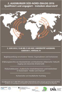Ankündigung 2. Augsburger Süd-Nord-Dialog
